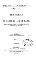 Theological and Homiletical Commentary on the Gospel of St Matthew and St Mark PDF
