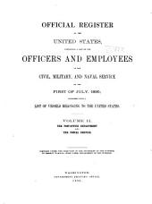 Official Register of the United States: Volume 2