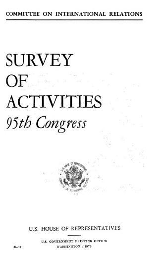 Survey of Activities  95th Congress PDF