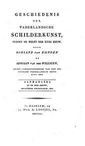 Geschiedenis der vaderlandsche schilderkunst: sedert de helft der XVIII eeuw