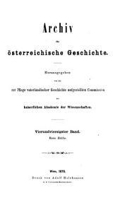 Archiv für österreichische Geschichte: Band 44