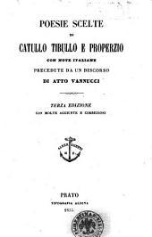 Poesie scelte di Catullo, Tibullo e Properzio