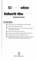 CliffsNotes on Lawrence and Lee s Inherit the Wind PDF