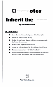 CliffsNotes on Lawrence and Lee s Inherit the Wind Book