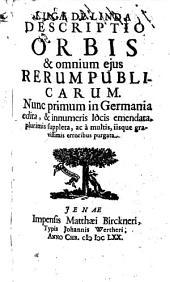 Lucas De Linda Correctus & Auctus