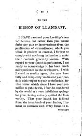 Three Letters Addressed to the Bishop of Llandaff: By William Burdon, ...
