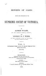 Reports of Cases Argued and Determined, V.1-2, 1861-1863