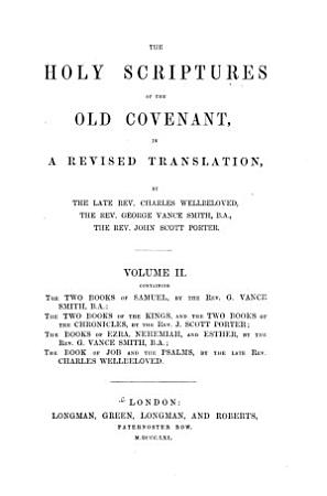 The Holy Scriptures of the Old Covenant in a Revised Translation PDF