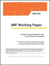 Quarterly Projection Model for India: Key Elements and Properties