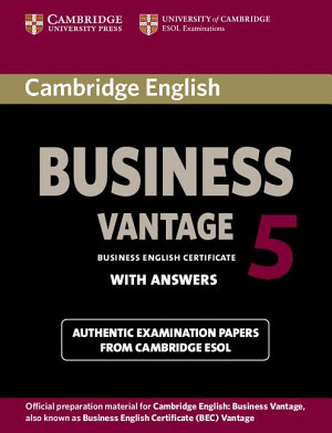 Cambridge English Business 5 Vantage Student s Book with Answers PDF
