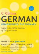 Collins German Unabridged Dictionary  7th Edition