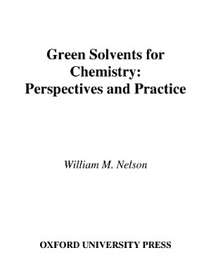 Green Solvents for Chemistry