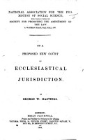 On a Proposed New Court of Ecclesiastical Jurisdiction PDF