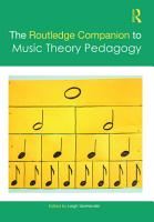The Routledge Companion to Music Theory Pedagogy PDF