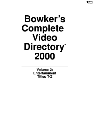 Bowker s Complete Video Directory PDF