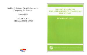 Seeking solutions   high performance computing for science  PDF