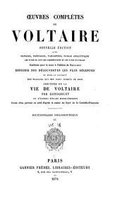 Œuvres complètes de Voltaire: Dictionnaire philosophique. 1878-79
