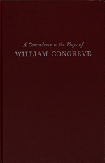 A Concordance to the Plays of William Congreve PDF