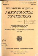 University of Kansas Paleontological Contributions