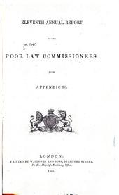 Annual Report of the Poor Law Commissioners: Volume 11