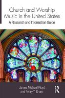 Church and Worship Music in the United States PDF