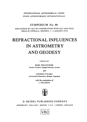Refractional Influences in Astrometry and Geodesy