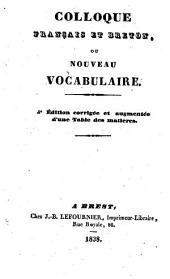 Colloque français et breton, ou Nouveau vocabulaire