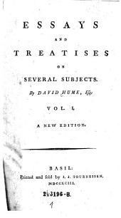 Essays and Treatises on Several Subjects: Volume 1