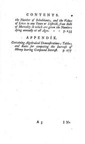 Observations on Reversionary Payments: On Schemes for Providing Annuities for Widows, and for Persons in Old Age; on the Method of Calculating the Values of Assurances on Lives; and on the National Debt : to which are Added Four Essays ... Also an Appendix ...