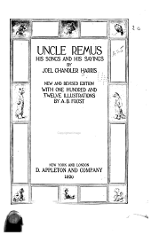 Uncle Remus,: His Songs and His Sayings;