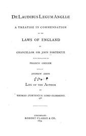 De Laudibus Legum Angliae
