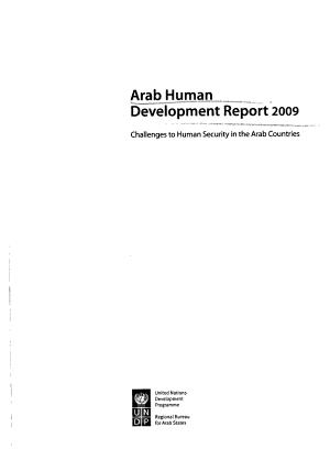 Arab Human Development Report 2009 PDF