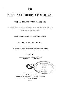 The Poets and Poetry of Scotland  From Thomas Campbell to Marquis of Lorne PDF