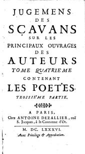 Contenant Les Poetes ; Troisième Partie: Volumes 3-4