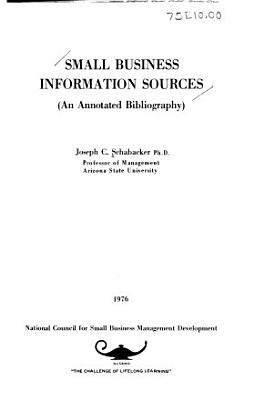 Small Business Information Sources PDF