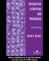 An Introduction To Nutrition And Metabolism PDF