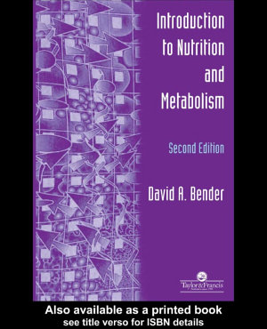 An Introduction To Nutrition And Metabolism