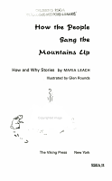 How the People Sang the Mountains Up PDF