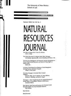 Natural Resources Journal PDF