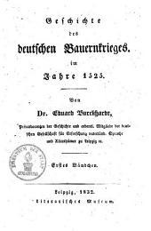 Geschichte des deutschen Bauernkrieges im Jahre 1525: Band 1