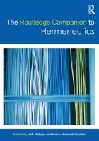The Routledge Companion to Hermeneutics PDF