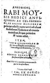 Aphorismi, ex Galeno medicorum principe collecti
