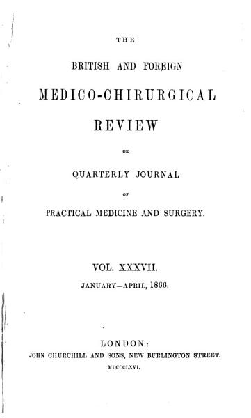 Download British and Foreign Medico chirurgical Review Book