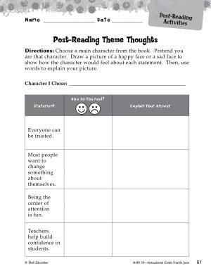 Freckle Juice Post Reading Activities