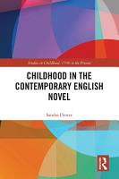Childhood in the Contemporary English Novel PDF