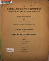 De historica Xenophontis in institutione Cyri fide quid iudicandum videatur