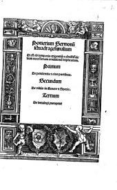 Pomerium Sermonum Quadragesimalium