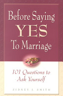 Before Saying Yes To Marriage  Book PDF