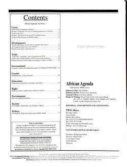 African Agenda PDF
