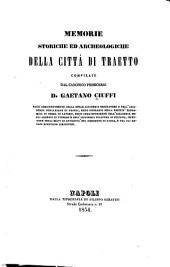 Memorie storiche ed archeologiche della città di Traetto